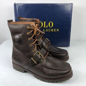 POLO RALPH LAUREN Dark Brown  RANGER LEATHER BOOTS